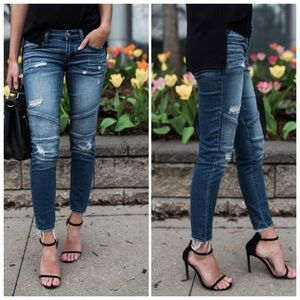 Denim - BEST PIPED FRAYED - JEANs - skinny ankle